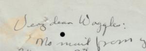 Part of a handwritten letter