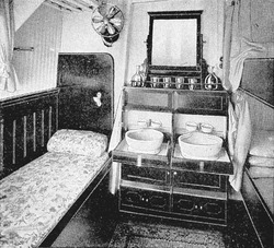 Photograph of a ship's cabin